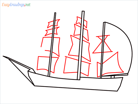 how to draw a pirate ship step (5)