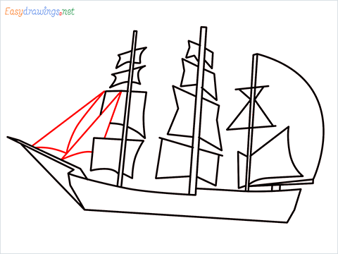 how to draw a pirate ship step (6)