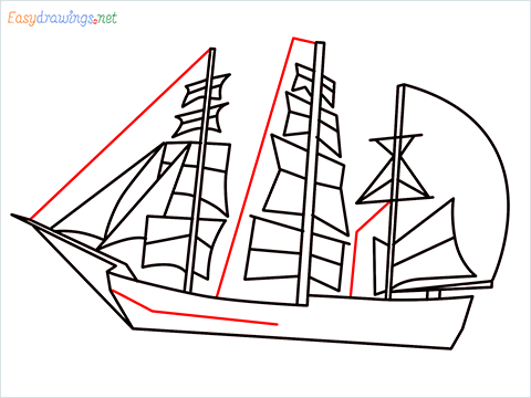 how to draw a pirate ship step (8)