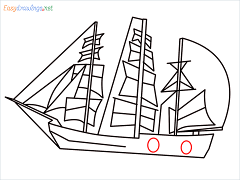 how to draw a pirate ship step (9)