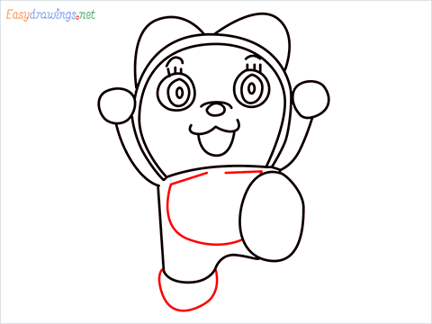 how to draw dorami step (10)