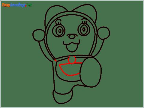 how to draw dorami step (11)