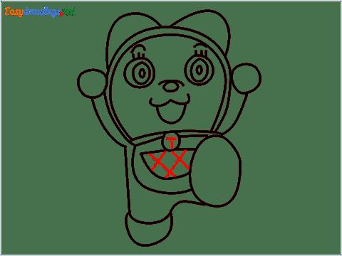 how to draw dorami step (12)