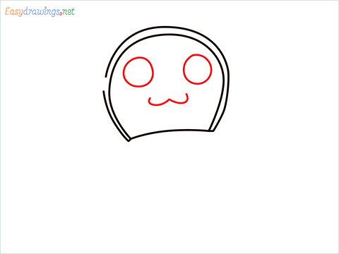 how to draw dorami step (3)
