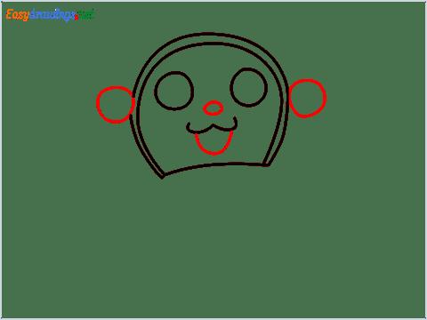 how to draw dorami step (4)