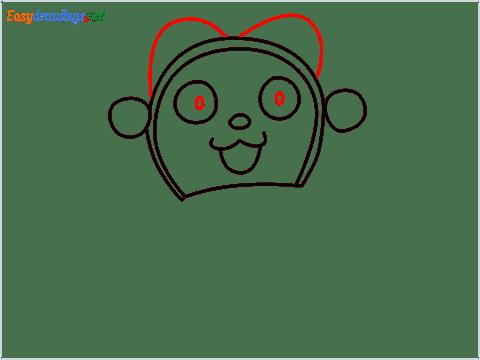 how to draw dorami step (5)