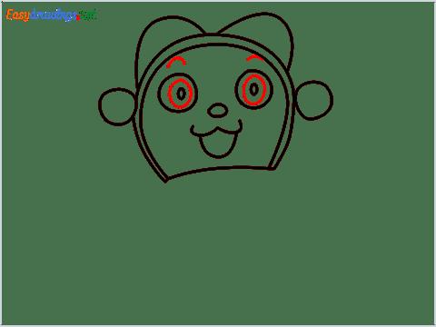 how to draw dorami step (6)