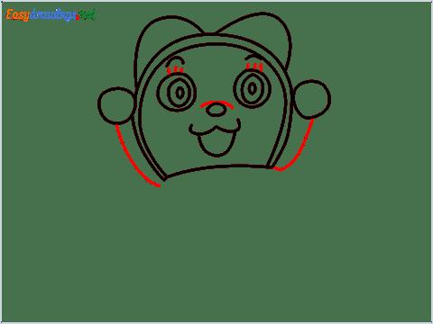how to draw dorami step (7)