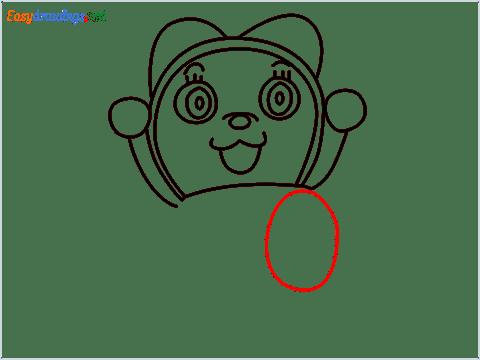 how to draw dorami step (8)