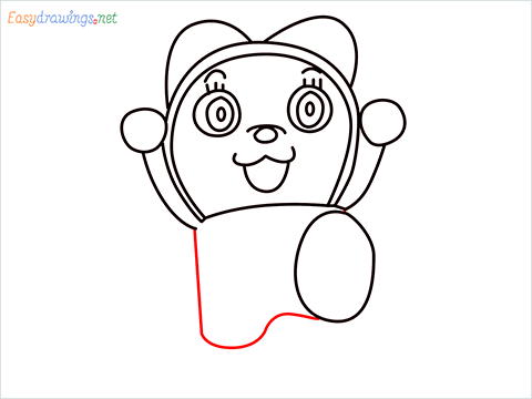 how to draw dorami step (9)