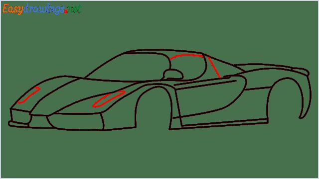 how to draw ferrari car step (10)