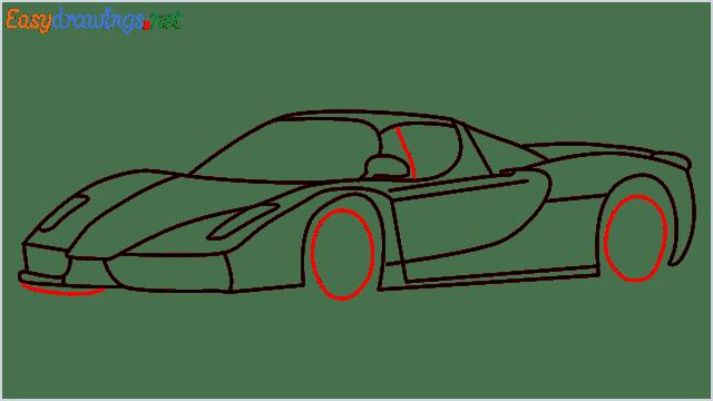 how to draw ferrari car step (11)