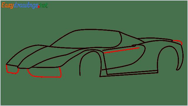 how to draw ferrari car step (8)