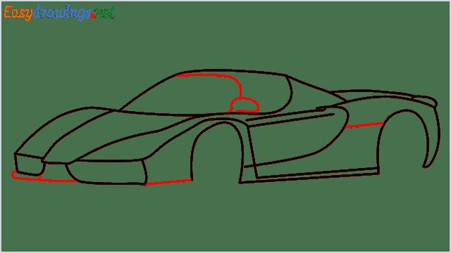 how to draw ferrari car step (9)
