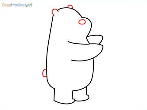 how to draw grizzly bear step (6)