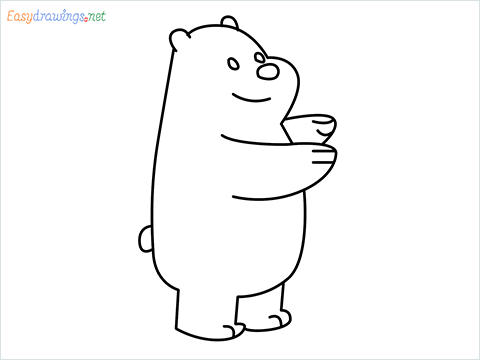 how to draw grizzly bear step by step for beginners