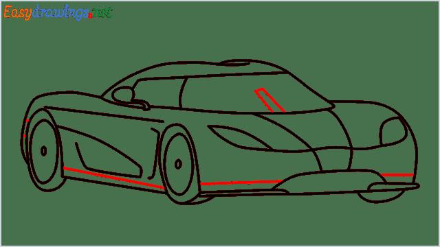 how to draw koenigsegg agera step (10)