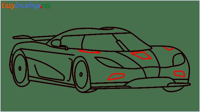 how to draw koenigsegg agera step (12)