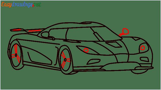 how to draw koenigsegg agera step (13)