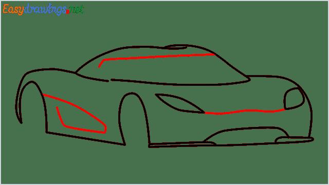 how to draw koenigsegg agera step (6)