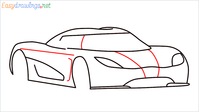 how to draw koenigsegg agera step (7)