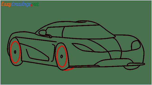 how to draw koenigsegg agera step (9)