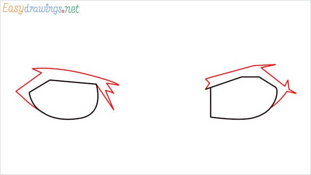 how to draw male anime eyes step (2)