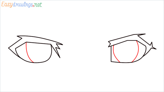 how to draw male anime eyes step (3)