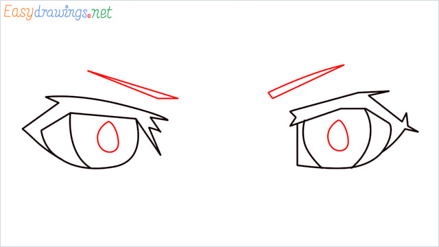 how to draw male anime eyes step (4)