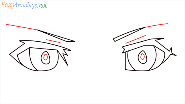 how to draw male anime eyes step (5)