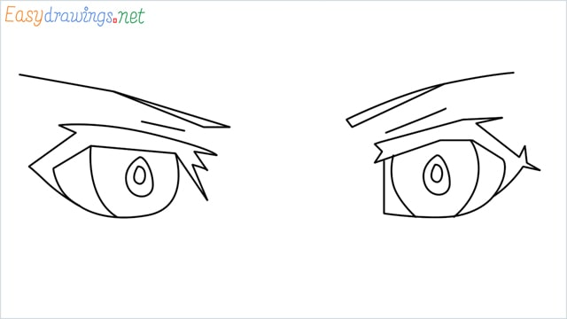 how to draw male anime eyes step by step for beginners