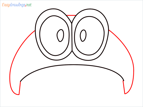 how to draw mario hat step (5)