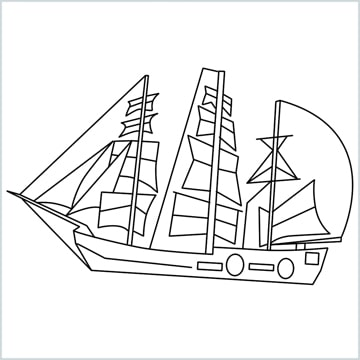 pirate ship coloring page
