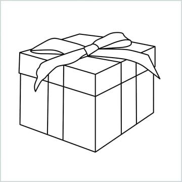 presents box drawing