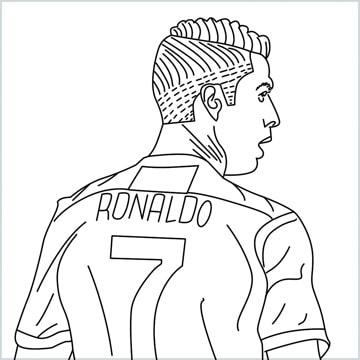 Cristiano Ronaldo cr7 coloring page