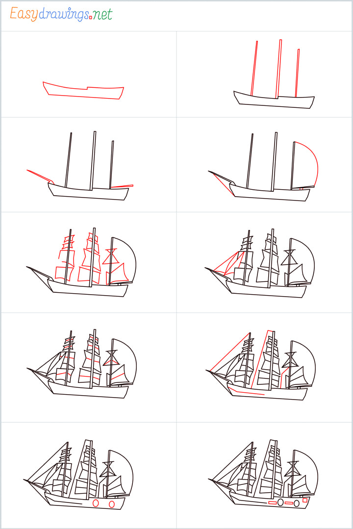 Pirate ship drawing Overview