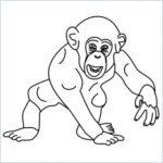 chimpanzee coloring page