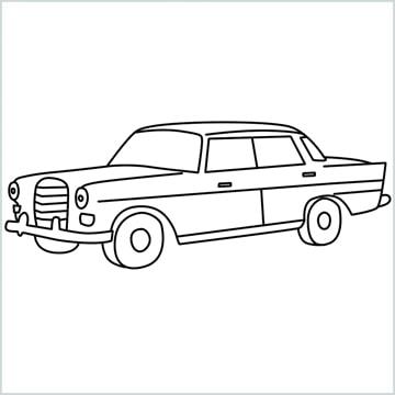 draw JRD Mercedes-Benz 190D