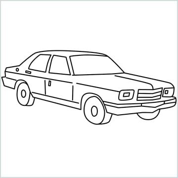 draw a Contessa car