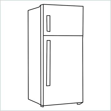 draw a fridge