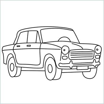 draw fiat premier padmini car