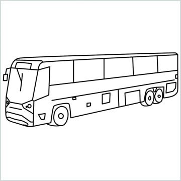 draw volvo bus