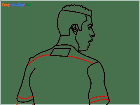 how to draw Cristiano Ronaldo cr7 step (10)