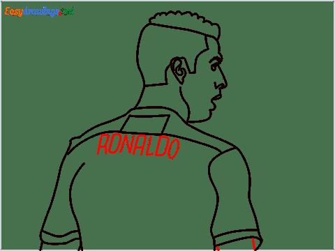 how to draw Cristiano Ronaldo cr7 step (11)