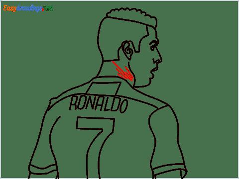 how to draw Cristiano Ronaldo cr7 step (13)