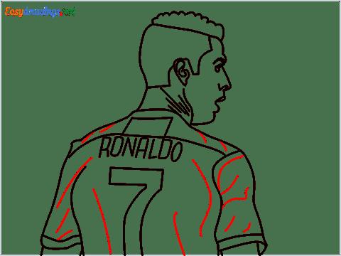how to draw Cristiano Ronaldo cr7 step (14)