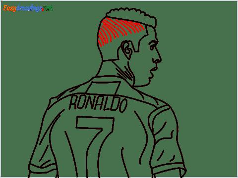 how to draw Cristiano Ronaldo cr7 step (15)