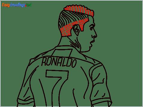 how to draw Cristiano Ronaldo cr7 step (16)