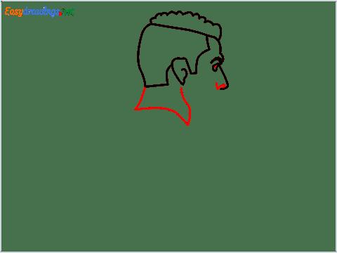 how to draw Cristiano Ronaldo cr7 step (5)