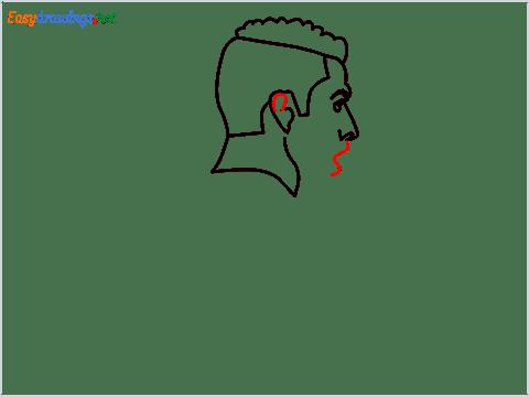 how to draw Cristiano Ronaldo cr7 step (6)